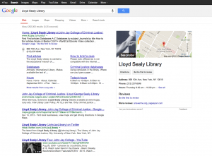 Google results page: before (Note: this is my best approximation. Was too distressed to take a screenshot)