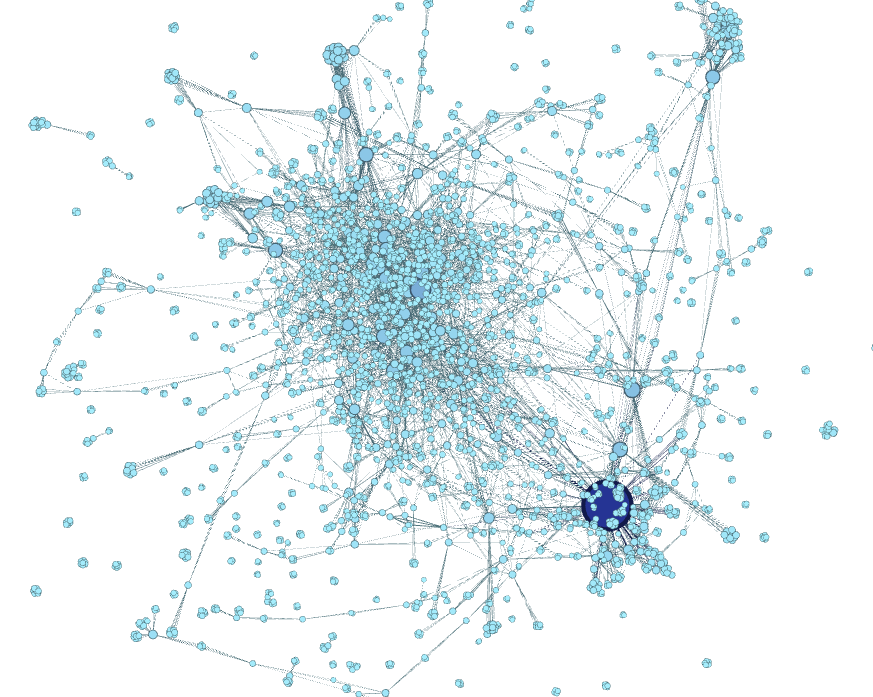 Calculate betweenness in gephi software