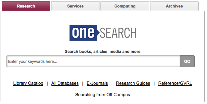 OneSearch - Search books, articles, media and more