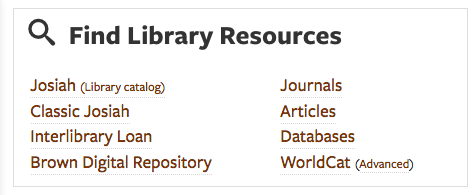 search library resources list