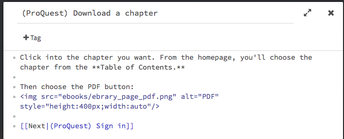 IMG tag (HTML) and double-bracket link (Harlowe)